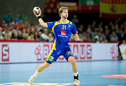Viktor Ostlund of Sweden during handball match between National teams of Germany and Sweden on Day 4 in Preliminary Round of Men's EHF EURO 2016, on January 18, 2016 in Centennial Hall, Wroclaw, Poland. Photo by Vid Ponikvar / Sportida