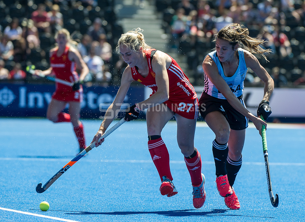 Jo Hunter. England v Argentina, Lee Valley Hockey and Tennis Centre, London, England on 10 June 2017. Photo: Simon Parker