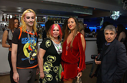 Left to right,  MR ROCKY MAZZILLI,  MRS LOUISE MAZZILLI and MISS TATUM MAZZILLI of the Voyage fashion store at a party to celebrate the publication of Tatler's Little Black Book 2006 held at 24, 24 Kingley Street, London W1 on 9th November 2006.<br />