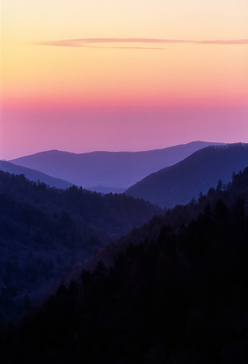 Sunset at Morton's Overlook, Great Smoky Mountains National Park, Tennessee