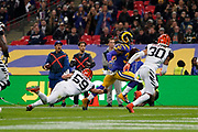 Touchdown, LA Rams Running Back Todd Gurley (30) runs on for a touchdown during the International Series match between Los Angeles Rams and Cincinnati Bengals at Wembley Stadium, London, England on 27 October 2019.
