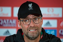 DOHA, QATAR - Friday, December 20, 2019: Liverpool's manager Jürgen Klopp during a press conference ahead of the FIFA Club World Cup Qatar 2019 Final match between CR Flamengo and Liverpool FC at the Khalifa Stadium. (Pic by Peter Powell/Propaganda)
