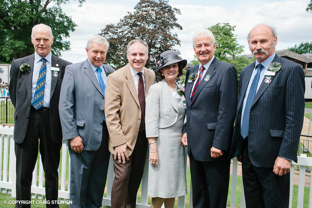 Royal Highland Show, 2014. Willie Gill Chairman Designate of RHASS, Richard Lochhead MSP, Rose Kelbie VP of RHASS, Sir Ian D Grant and Alan Murray, Chairman. PAYMENT TO CRAIG STEPHEN 07905 483532