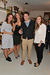 Left to right, MAISIE VAN STROUD, JULIA PAVAN, TANIA KUPCZAK and NATHANIAL DAVIES at a party at Guinevere 574-580 ing's Road, London on 7th October 2014.
