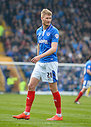 Portsmouth forward Michael Smith during the Sky Bet League 2 match between Portsmouth and Carlisle United at Fratton Park, Portsmouth, England on 2 April 2016. Photo by Adam Rivers.
