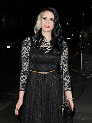 Kate Nash attends the Pride of Britain awards at Grosvenor House in London, UK. 07/10/2013<br />BYLINE MUST READ : GOTCHAIMAGES.COM<br /><br />Copyright by © Gotcha Images Ltd. All rights reserved.<br />Usage of this image is conditional upon the acceptance <br />of Gotcha Images Ltd, terms and conditions available at<br />www.gotchaimages.com