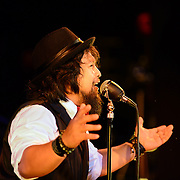 """Singer """"The Animal"""" performs with Vaud and the Villains at The Music Hall in Portsmouth, NH. July 2012."""