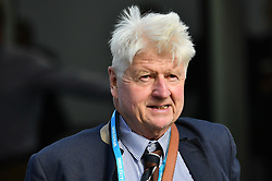 © Licensed to London News Pictures. 03/10/2017. Manchester, UK. STANLEY  JOHNSON father of Boris Johnson, at day three of the Conservative Party Conference. The four day event is expected to focus heavily on Brexit, with the British prime minister hoping to dampen rumours of a leadership challenge. Photo credit: Ben Cawthra/LNP