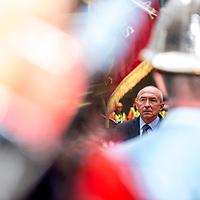 Gerard Collomb, Lyon. Inauguration d'une caserne de pompiers