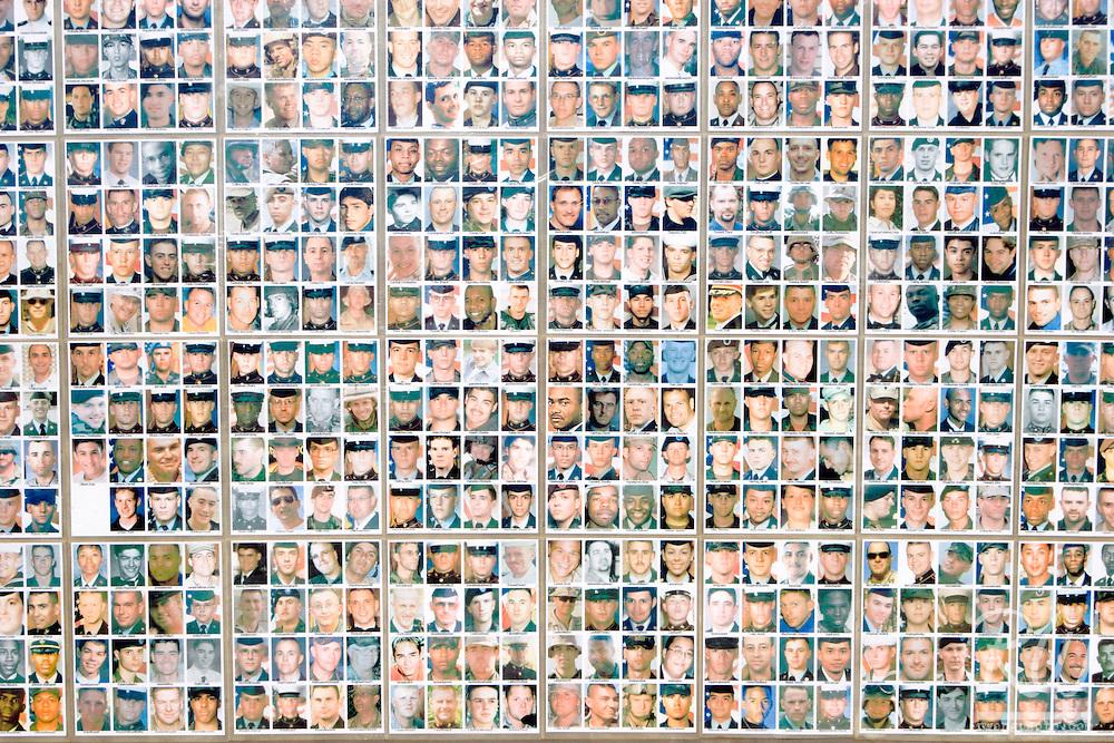 Portraits of American Military Casualties in Iraq War, Arlington West Memorial at Santa Monica, California