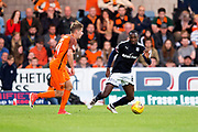 Dundee midfielder Glen Kamara (#8) prepares to defend against Dundee United midfielder Billy King (#11) during the Betfred Scottish Cup match between Dundee and Dundee United at Dens Park, Dundee, Scotland on 9 August 2017. Photo by Craig Doyle.