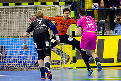 Niklas Landin Jacobsen of THW Kiel during handball match between RK Celje Pivovarna Lasko and THW Kiel in Group Phase A+B of VELUX EHF Champions League, on November 19, 2017 in Arena Zlatorog, Celje, Slovenia. Photo by Ziga Zupan / Sportida