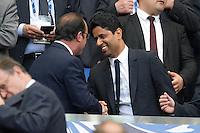 Nasser Al Khelaifi / Francois Hollande - 30.05.2015 - Auxerre / Paris Saint Germain - Finale Coupe de France<br />Photo : Andre Ferreira / Icon Sport