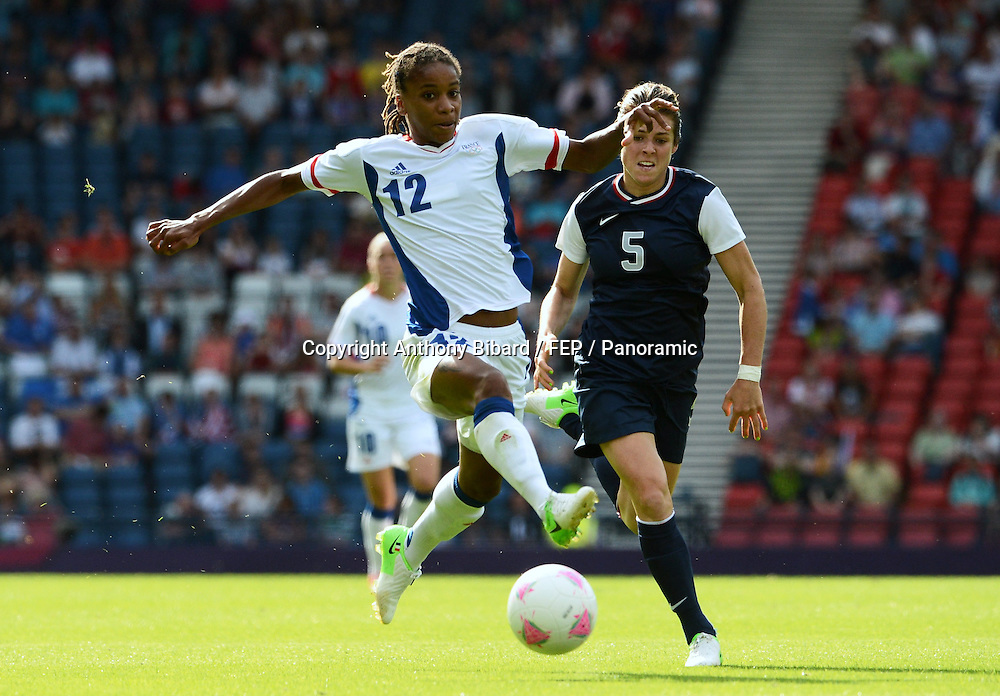 Elodie THOMIS (fra) - Kelley O'HARA (usa), FOOTBALL Womens : France vs United States, London 2012 Olympic Games, 25 July 2012. Photo: Panoramic/photosport.co.nz