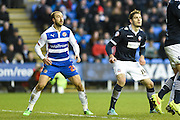 Glenn Murray and Dorian Dervite during the Sky Bet Championship match between Reading and Bolton Wanderers at the Madejski Stadium, Reading, England on 6 December 2014.