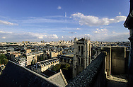 France. Paris. elevated view.  Clovis Tower, the last remain of the Clovis basilica  view from Saint Etienne du Mont Bell's tower.