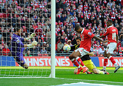 Bristol City's Mark Little scores at the second attempt  - Photo mandatory by-line: Joe Meredith/JMP - Mobile: 07966 386802 - 22/03/2015 - SPORT - Football - London - Wembley Stadium - Bristol City v Walsall - Johnstone Paint Trophy Final