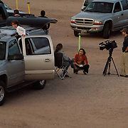The Channel 31 Fox News reporter interviews one of the mothers bringing her kids to experience the drive-in before it closes.