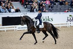 SCHOLTENS Emmelie (NED), Apache<br /> Göteborg - Gothenburg Horse Show 2019 <br /> FEI Dressage World Cup™ Final I<br /> Int. dressage competition - Grand Prix de Dressage<br /> Longines FEI Jumping World Cup™ Final and FEI Dressage World Cup™ Final<br /> 05. April 2019<br /> © www.sportfotos-lafrentz.de/Stefan Lafrentz