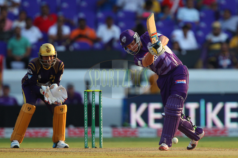 Evan GULBIS of the Hobart Hurricanes  during the first semi final match of the Oppo Champions League Twenty20 between the Kolkata Knight Riders and the Hobart Hurricanes held at the Rajiv Gandhi Cricket Stadium, Hyderabad, India on the 2nd October 2014<br /> <br /> Photo by:  Ron Gaunt / Sportzpics/ CLT20<br /> <br /> <br /> Image use is subject to the terms and conditions as laid out by the BCCI/ CLT20.  The terms and conditions can be downloaded here:<br /> <br /> http://sportzpics.photoshelter.com/gallery/CLT20-Image-Terms-and-Conditions-2014/G0000IfNJn535VPU/C0000QhhKadWcjYs