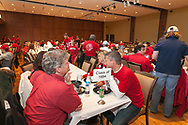 A family enjoys their meal at the Badger Bash Homecoming celebration at Union South in 2014.