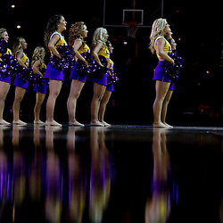 Jan 5, 2016; Baton Rouge, LA, USA; LSU Tigers Tiger Girls dance team performs before a game against the Kentucky Wildcats at the Pete Maravich Assembly Center. Mandatory Credit: Derick E. Hingle-USA TODAY Sports