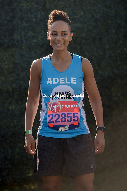Adele Roberts at London Marathon 2018 on 22 April 2018, Blackhealth, London, UK.