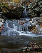 Image of the Lower Falls on Cedar Run in Shenandoah National Park.