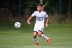 WREXHAM, WALES - Thursday, August 15, 2019: Cyprus' Marios Fasouliotis during the UEFA Under-15's Development Tournament match between Cyprus and Malta at Colliers Park. (Pic by Paul Greenwood/Propaganda)