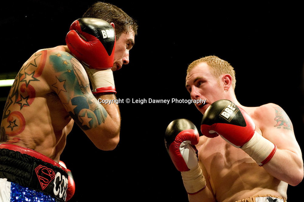Scott Haywood draws against John Fewkes at the Harvey Hadden Leisure Centre 5th February 2010 Frank Maloney Promotions. Photo credit © Leigh Dawney