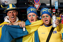 Fans of Sweden in town Innsbruck before the UEFA EURO 2008 Group D soccer match between Sweden and Russia at Stadion Tivoli NEU, on June 18,2008, in Innsbruck, Austria. Russia won 2:0. (Photo by Vid Ponikvar / Sportal Images)
