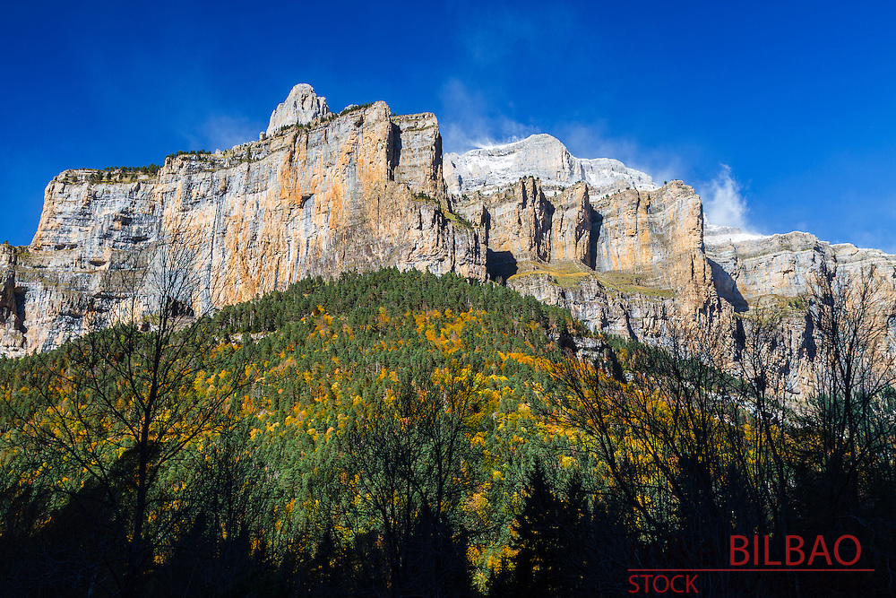 ordesa national park area is a high mountain destination in the south slope of pyrenees mountain