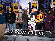 14 JANUARY 2020 - DES MOINES, IOWA: People from the Poor People's Campaign march to Drake University before the CNN Democratic Presidential Debate on the campus of Drake University in Des Moines. This is the last debate before the Iowa Caucuses on Feb. 3.    PHOTO BY JACK KURTZ