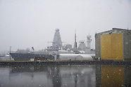 BAE Shipyard, River Clyde & Snow