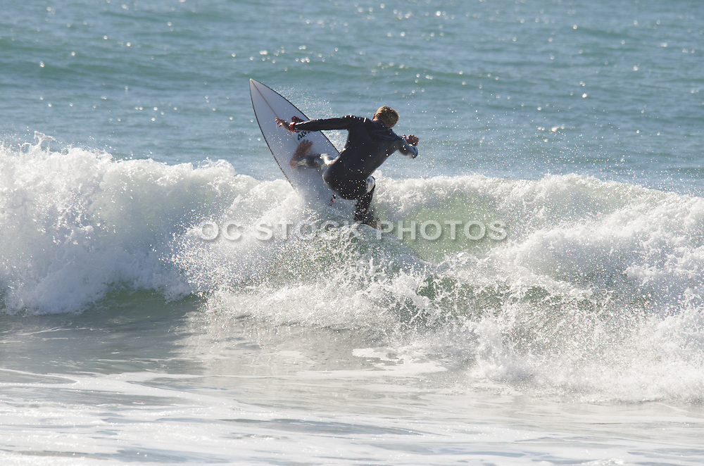 Surfing California Pacific Ocean Waves