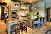 An elegant home kitchen in Dallas as photographed by Kevin Brown, architectural photographer.
