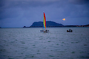 Full Moon Rise, Kaneohe Bay, Oahu, Hawaii