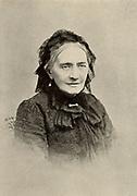 Clara Schumann (born Clara Wieck - 1819-1896) German pianist in old age. Widow of composer Robert Schumann. From a photograph. Halftone.