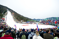 View on the hill during Flying Hill Team First Round at 3rd day of FIS Ski Jumping World Cup Finals Planica 2011, on March 19, 2011, Planica, Slovenia. (Photo By Matic Klansek Velej / Sportida.com)