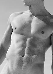 Detail of a muscular man's body