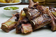 Beef rib Asado South American traditional dish in Argentina, Uruguay, Chile, and Paraguay.