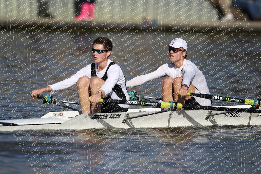 29.09.2012. Wallingford Long Distance Sculls 2012, The River Thames. Division 1. J16A 2x. St Pauls School Boat Club.
