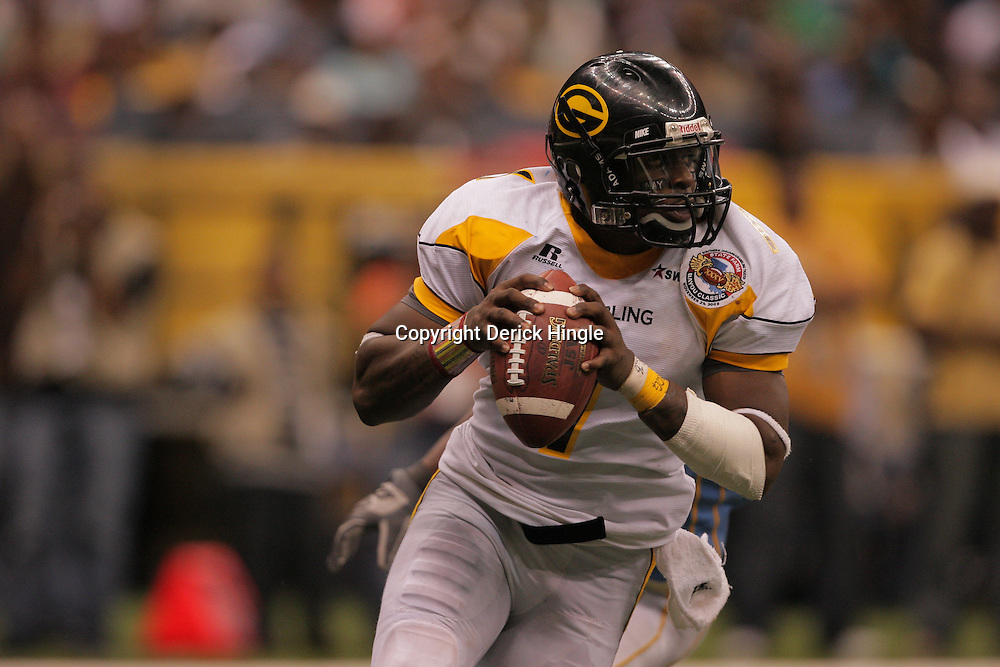 2008 November, 29: Grambling State quarterback Greg Dillon (1) runs with the ball during the 35th annual State Farm Bayou Classic between Southern University and Grambling State University at the Louisiana Superdome in New Orleans, LA.  .