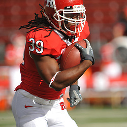 Oct 10, 2009; Piscataway, NJ, USA; Rutgers running back Jourdan Brooks (39) runs the ball during warmups for NCAA college football between Rutgers and Texas Southern at Rutgers Stadium.