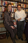 Natasha Fairweather and Rob Praitt, Book party for 'The Dream of Rome' by Boris Johnson. Daunts bookshop. Marylebone High St. London.  1 February 2006. -DO NOT ARCHIVE-© Copyright Photograph by Dafydd Jones 66 Stockwell Park Rd. London SW9 0DA Tel 020 7733 0108 www.dafjones.com