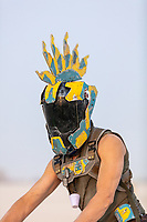 Wonderful helmet, chestplate, and cup designed by this burner. My Burning Man 2018 Photos:<br />