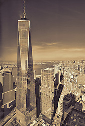 View of 1 World Trade from the 68th floor of 4 World Trade Center