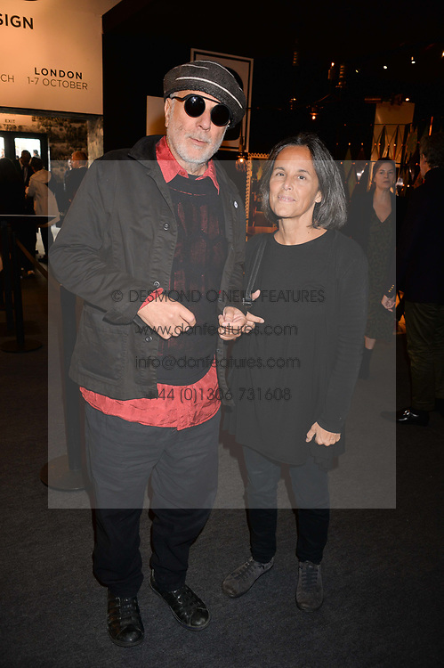 Ron Arad and Alma Arad at the 2017 PAD Collector's Preview, Berkeley Square, London, England. 02 October 2017.