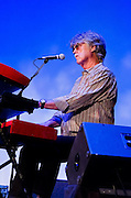 Bob Carpenter of Nitty Gritty Dirt Band working the keyboards during the band's performance at the Landis Theater in Vineland, NJ.