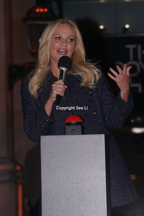 Annual Christmas tree lighting this year Radio Presenter and former Spice Girl EMMA BUNTON to turn on the GEORG JENSEN Christmas tree lights on 20th November 2017 at The Royal Exchange.